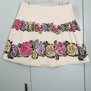 LOFT Flower printed skirt size 10 -C9